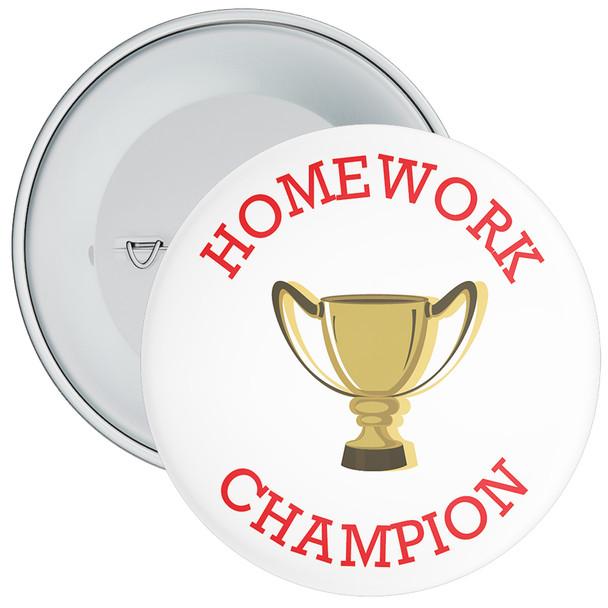 White Homework Champion Badge