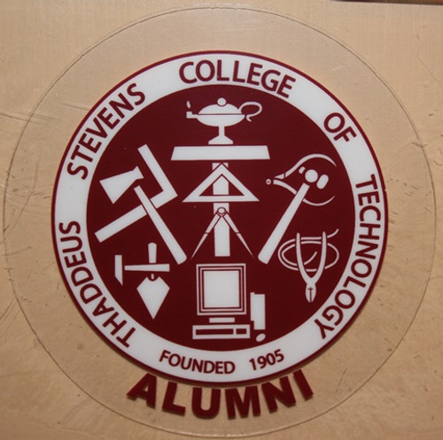 Round Alumni Window Cling