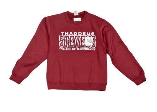 Maroon Crewneck Sweatshirt w/ White Logo