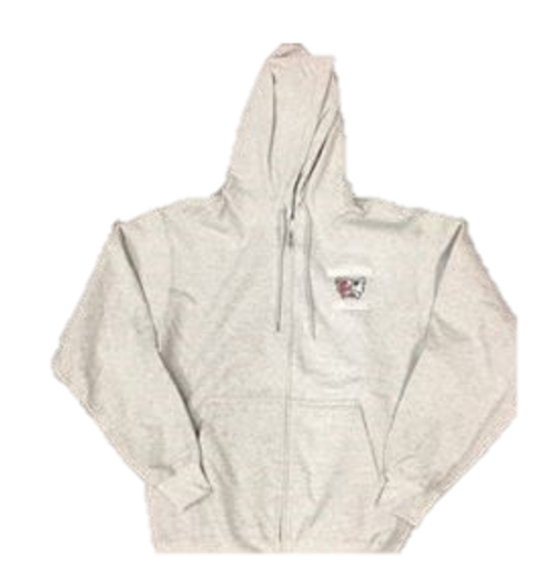 Full Zip Embroidered Sweatshirt