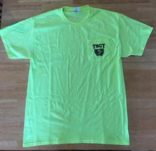 Neon Green Pocket T-Shirt