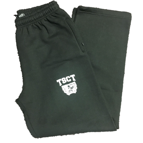 Black Straight Leg Sweatpants