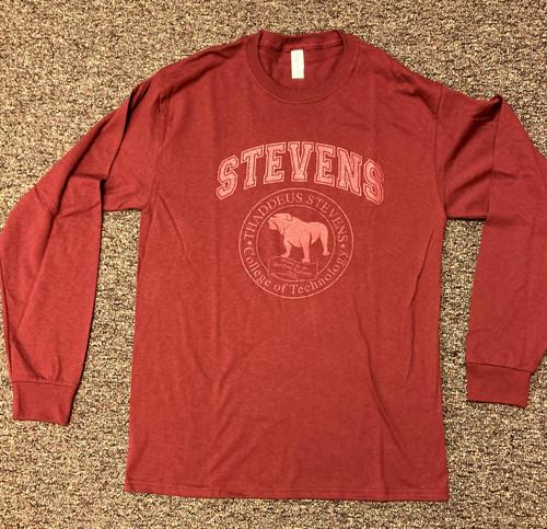 Long Sleeve TSCT Seal T-shirt Maroon