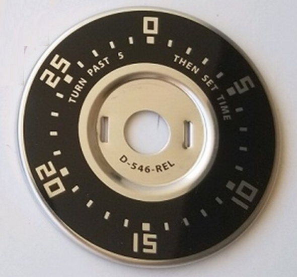 Spinalator 30 Minute Timer Plate