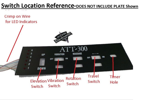 ATT 300 IST Table Travel or Directional Switch