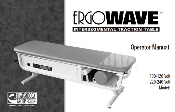 ErgoWave IST Table Operator Manual - PDF Download