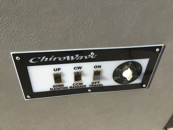 ChiroWave Table parts, ChiroWave IST Table Replacement switch Plate, ChiroWave IST Table switch Plate, ChiroWave IST Table Plate, ChiroWave Table parts for sale, ChiroWave IST Table Replacement switch Plate for sale, ChiroWave IST Table switch Plate for sale, ChiroWave IST Table Plate for sale