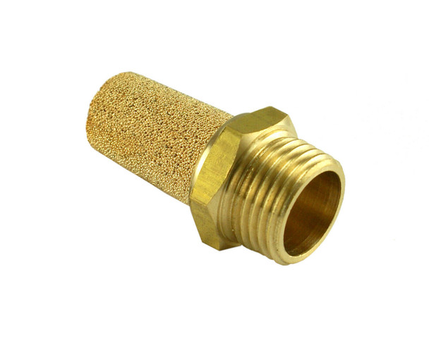 "Brass Silencer Connector ¼"" NPT Noise Reduce Air Valve Fitting"