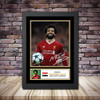 Personalised Signed Football Autograph print - Mohamed Salah Framed or Print Only