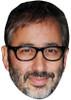 DAVID BADDIEL JB - Funny Comedian Fancy Dress Cardboard Celebrity Face Mask