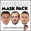 Tottenham Champions League Mask Pack 1 HARRY KANE, DELE ALI, KIERAN TRIPPIER, AND FREE POCHETINO