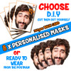 8 x PERSONALISED CUSTOM Stag Masks PHOTO DIY OR CUT PARTY FACE MASKS - Stag & Hen Party Facemasks