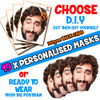 19 x PERSONALISED CUSTOM Stag Masks PHOTO DIY OR CUT PARTY FACE MASKS - Stag & Hen Party Facemasks