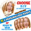 15 x PERSONALISED CUSTOM Hen Party Masks PHOTO DIY OR CUT PARTY FACE MASKS - Stag & Hen Party Facemasks