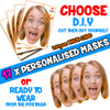 17 x PERSONALISED CUSTOM Hen Party Masks PHOTO DIY OR CUT PARTY FACE MASKS - Stag & Hen Party Facemasks
