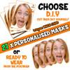 27 x PERSONALISED CUSTOM Hen Party Masks PHOTO DIY OR CUT PARTY FACE MASKS - Stag & Hen Party Facemasks