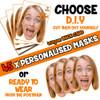 45 x PERSONALISED CUSTOM Hen Party Masks PHOTO DIY OR CUT PARTY FACE MASKS - Stag & Hen Party Facemasks