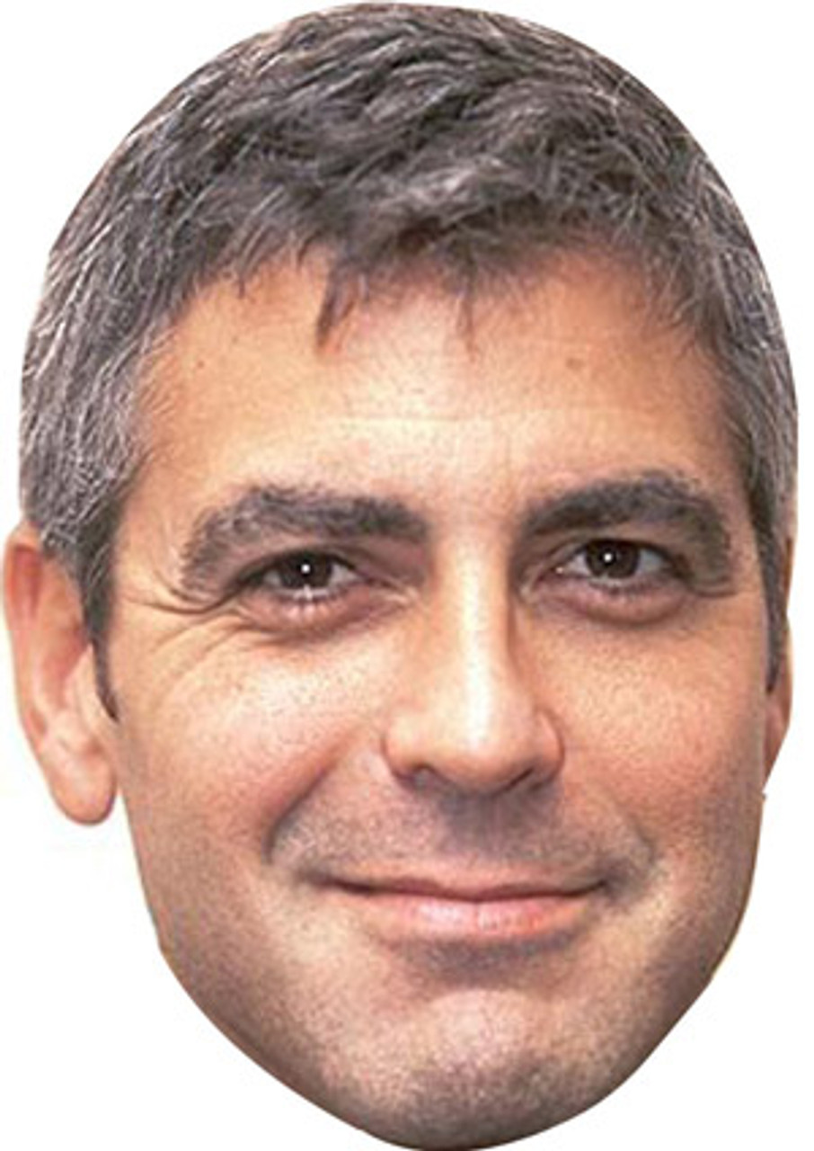 George Clooney Celebrity Mask Card Face and Fancy Dress Mask
