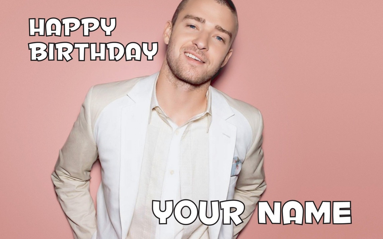 Justin Timberlake Birthday Card