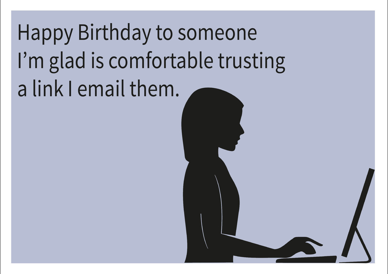 Email Link Personalised Birthday Card