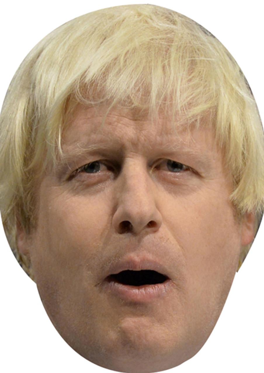 Boris Johnson Celebrity Face Card Mask