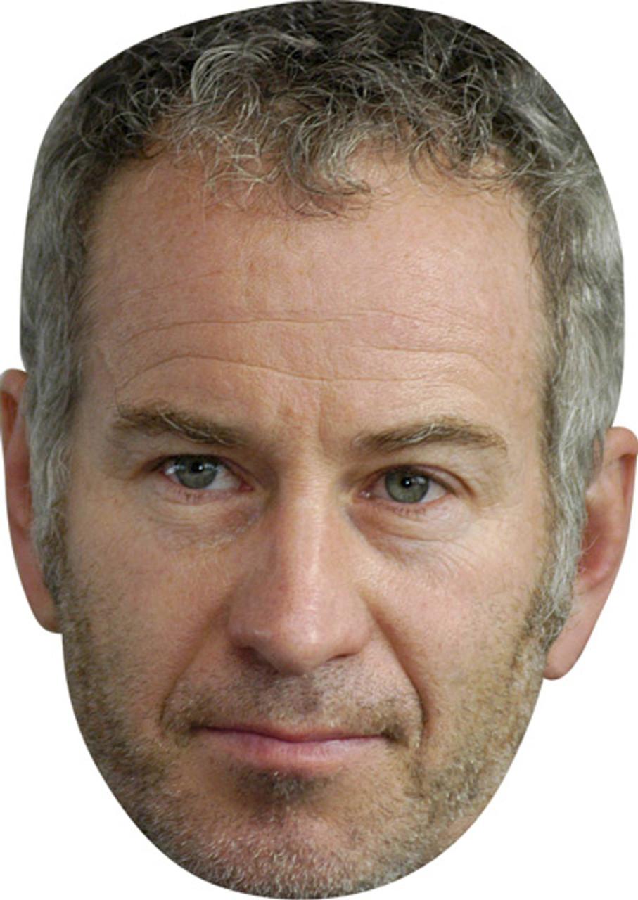 John McEnroe Celebrity Mask Card Face and Fancy Dress Mask