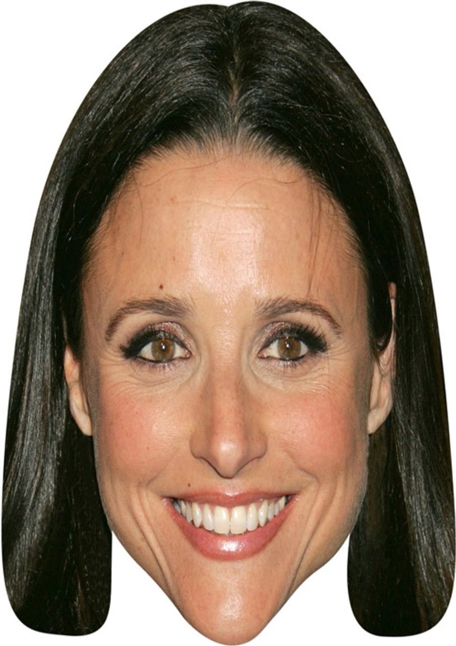 Julia Louis Dreyfus Celebrity Mask Card Face and Fancy Dress Mask
