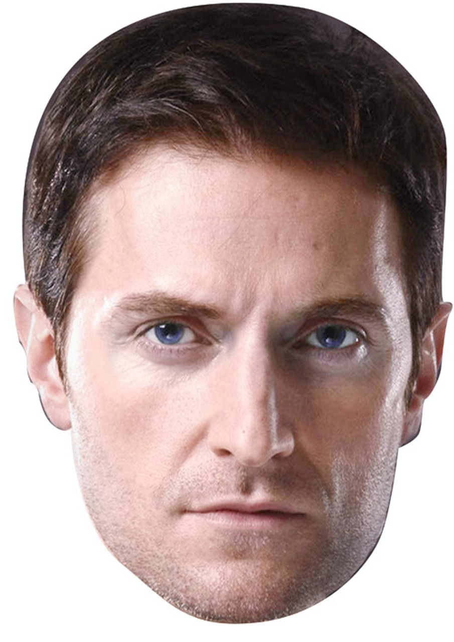 Card Face and Fancy Dress Mask Richard Armitage Celebrity Mask