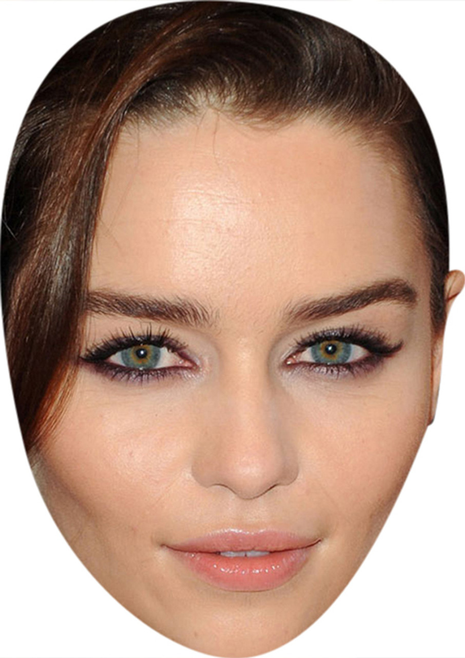 Emilia Clarke Celebrity Mask Card Face and Fancy Dress Mask