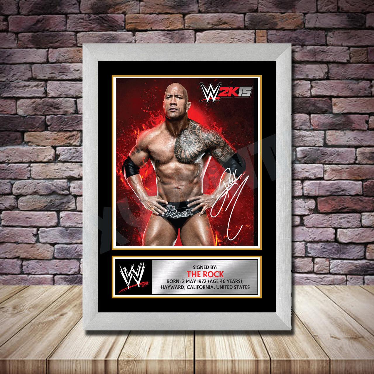 Any Name Age Relation Wrestling The Undertaker WWE Personalised Birthday Card