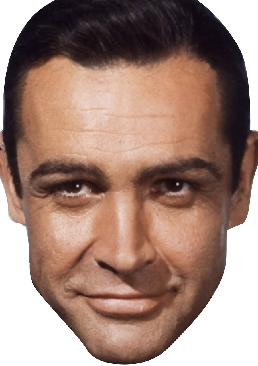 Sean Connery James Bond Celebrity Party Face Fancy Dress Celebrity Facemasks Com