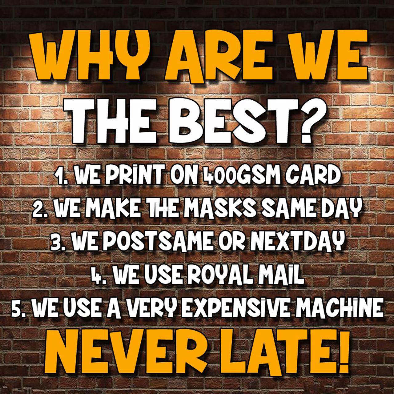 Phil Mitchell Eastenders Card Mask All Masks Are Pre-Cut Steve McFadden