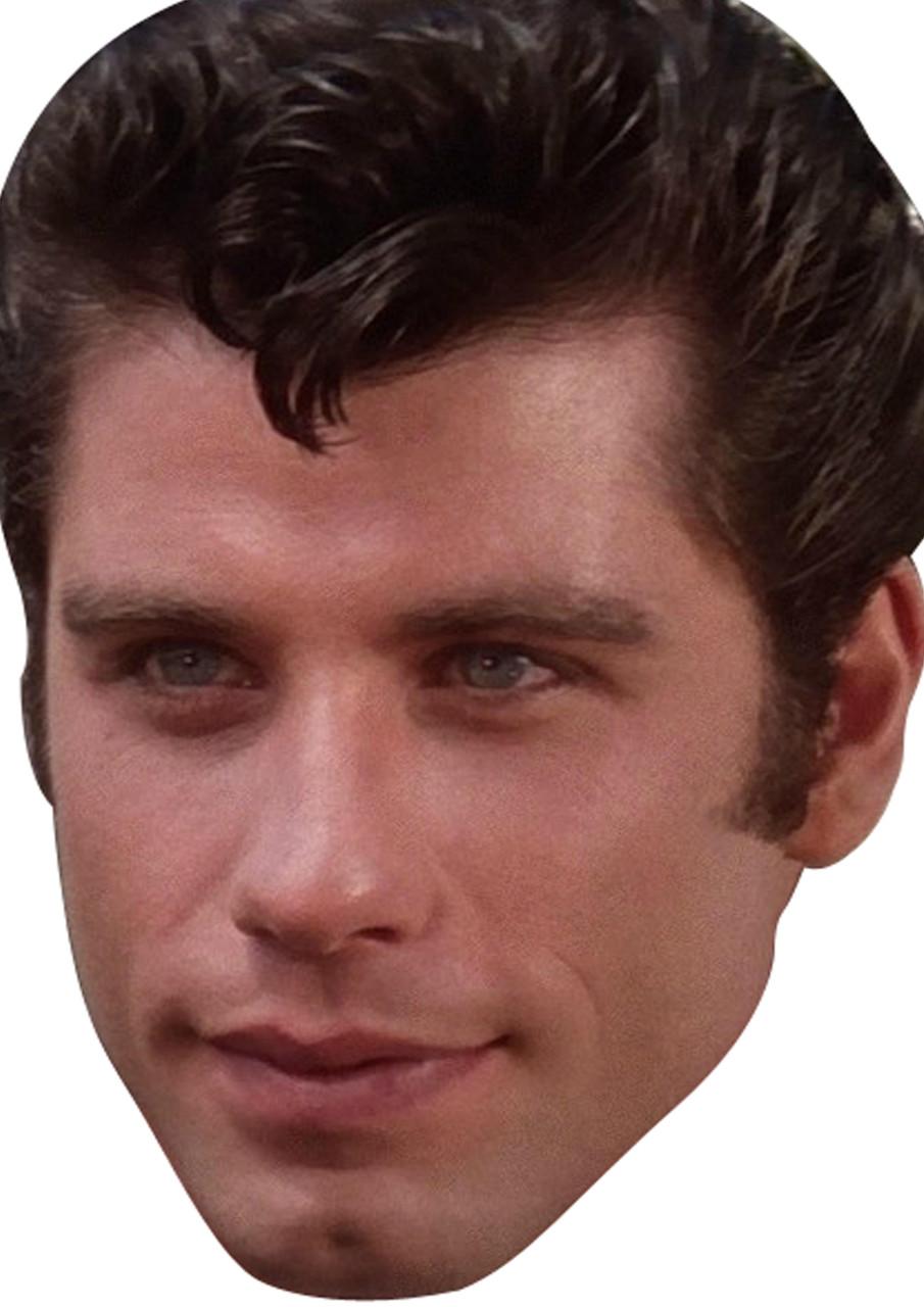 Young John Travolta Face Mask - Celebrity-Facemasks.com