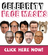 Now Taking Wholesale Celebrity Face Mask Orders for Trade Suppliers
