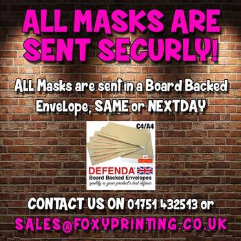 Emmerdale celebrity party face fancy dress mask