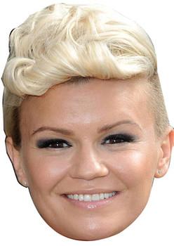 Kerry Katona Short Quiff Hair Celebrity Face Mask
