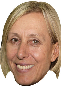 Martina Navratilova Tennis Celebrity Face Mask
