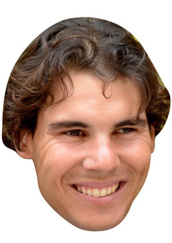 RAFAEL NADAL CARD FACE MASK Rafa Nadal Celebrity Wimbledon Tennis Star Face Mask