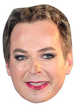 Keith Lemon Face Party Mask Card A4 Fancy Dress TV Comedian Ladies Mens Kids