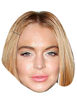 Lindsay Lohan Celebrity Face Mask