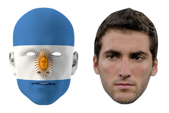 Argentina World Cup Face Mask Pack Higuaãn