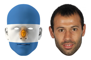 Argentina World Cup Face Mask Pack Mascherano