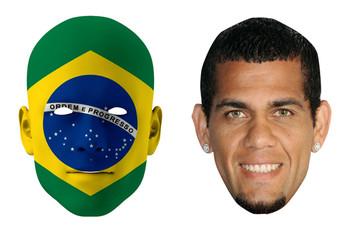 Brazil World Cup Face Mask Pack Alves