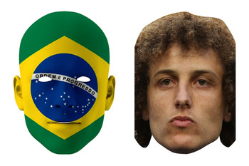Brazil World Cup Face Mask Pack David Luiz