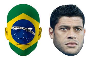 Brazil World Cup Face Mask Pack Hulk