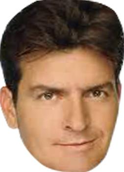 Charlie Sheen Tv Star Face Mask