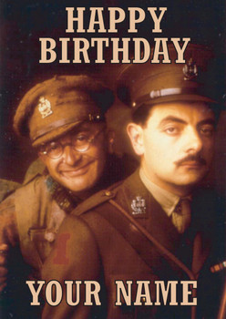 Personalised Blackadder Goes Forth Birthday Card
