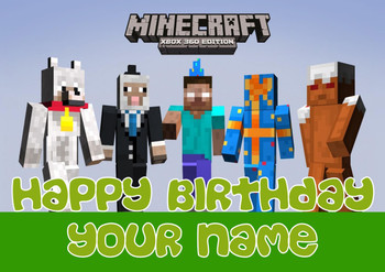 Minecrafting Theme 1 Birthday Card