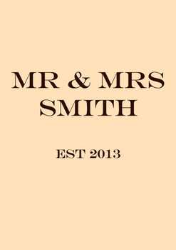 Mr And Mrs Smith 2018 Birthday Card