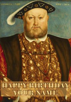 Henry Vlll Birthday Card